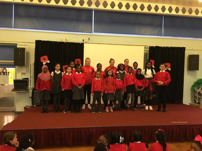 Charlton Women visited Morden Mount School