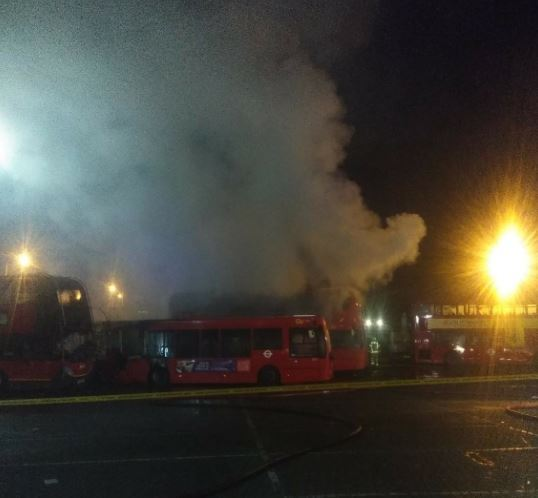 Orpington bus depot goes up in flames