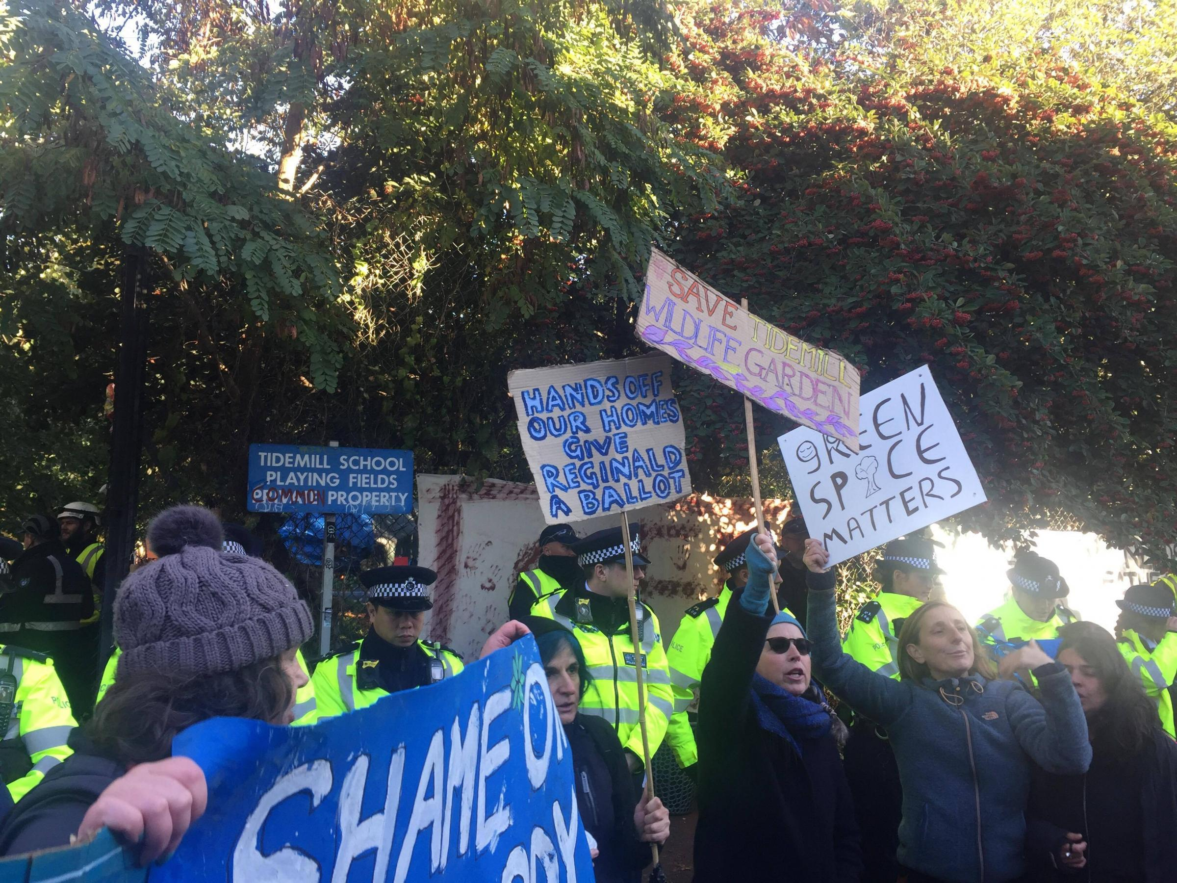 The eviction of protestors at the Old Tidemill Wildlife Garden cost the council £105k.
