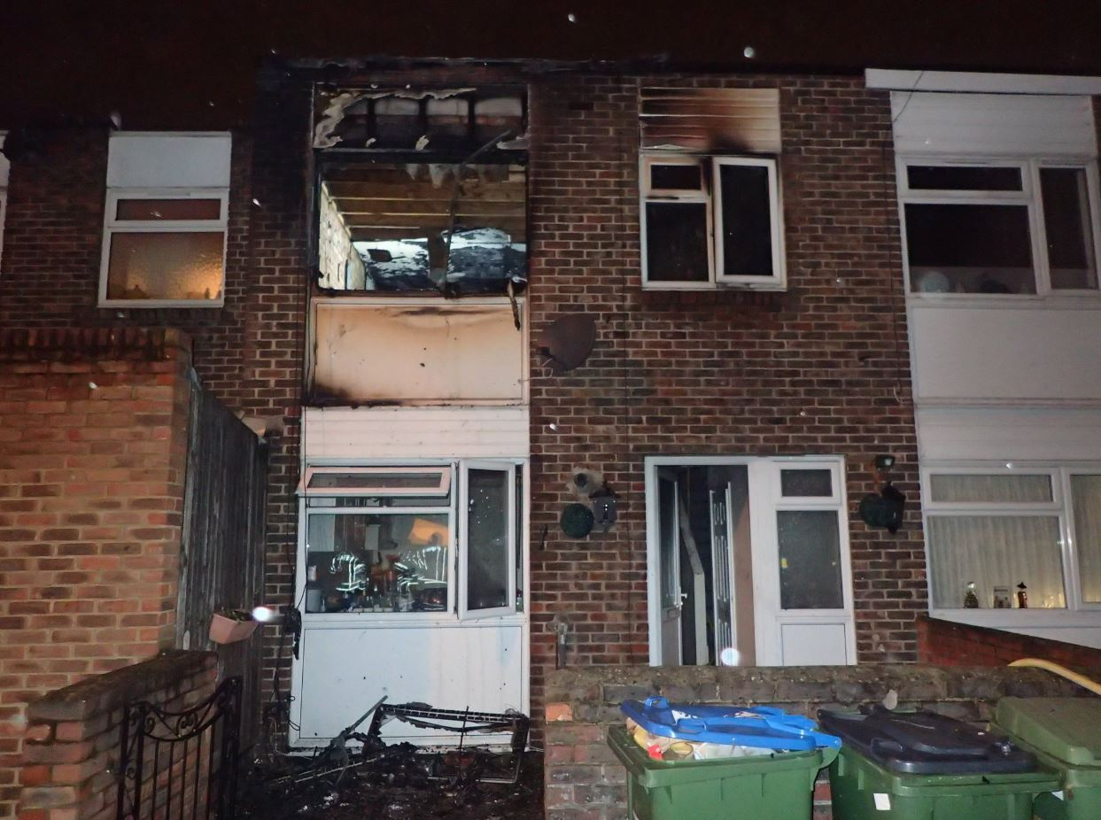 A house in Plumstead was damaged last night in a fire