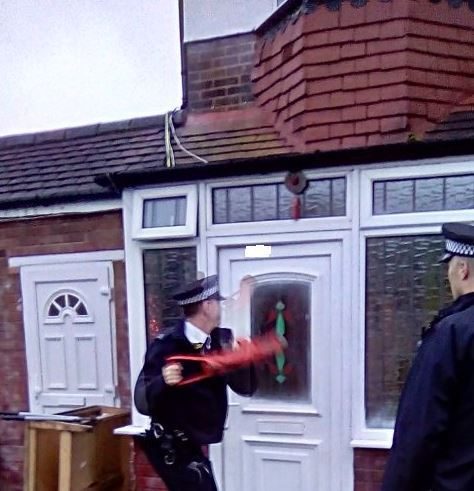 Police from Eltham North and South conducted a raid on a house on Glenesk Road