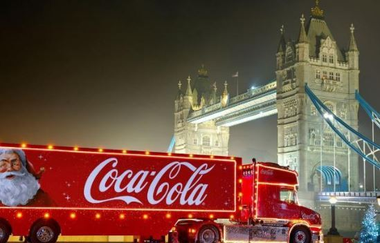 The Coca Cola truck is coming to Greenwich this weekend