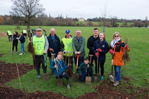 Volunteers planted more than 1,000 trees earlier this yer at Danson Park