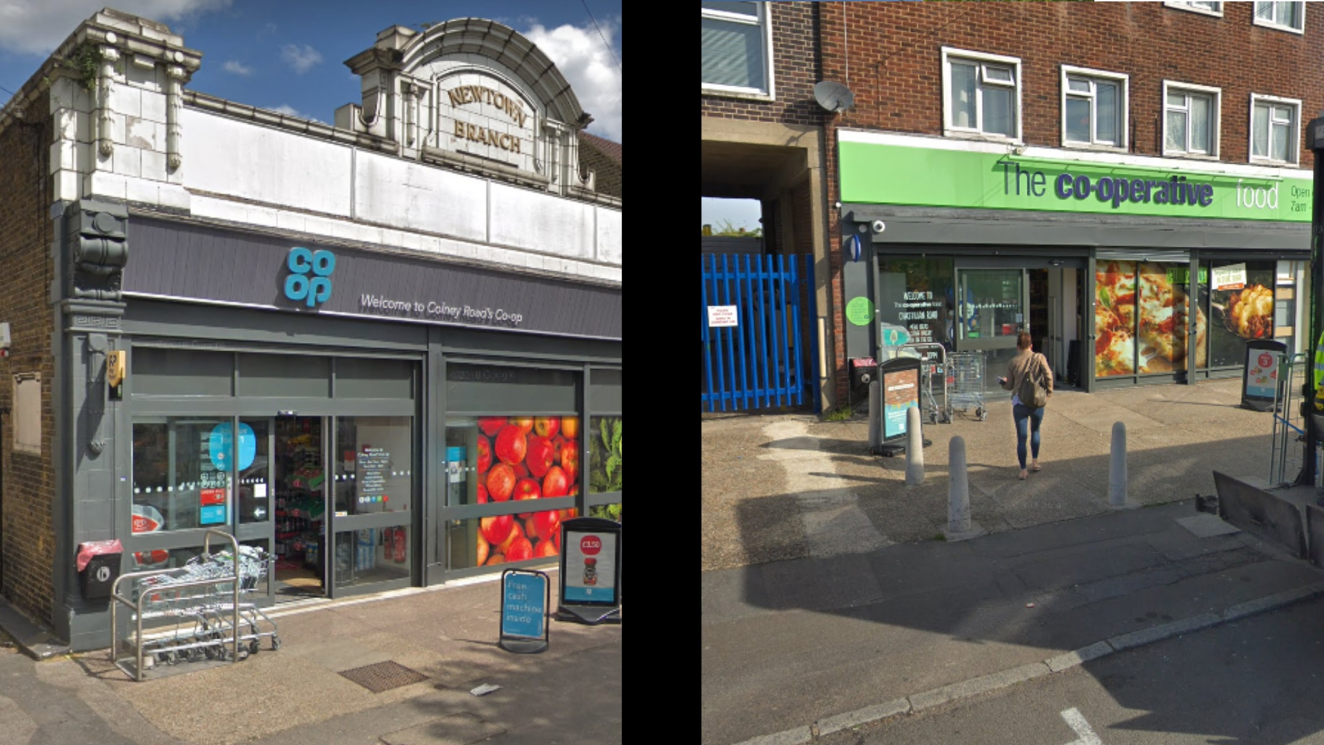 Co-op stores in Colney Road and Chastillian Road