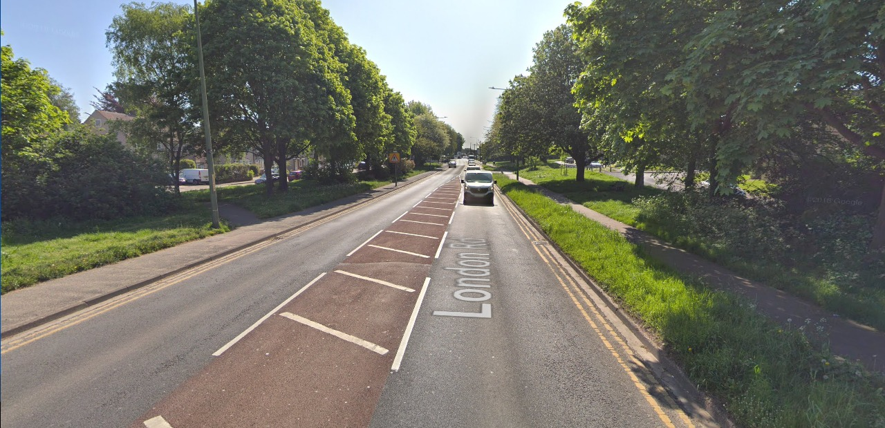 A cyclist collided with a car this morning in London Road, Swanley