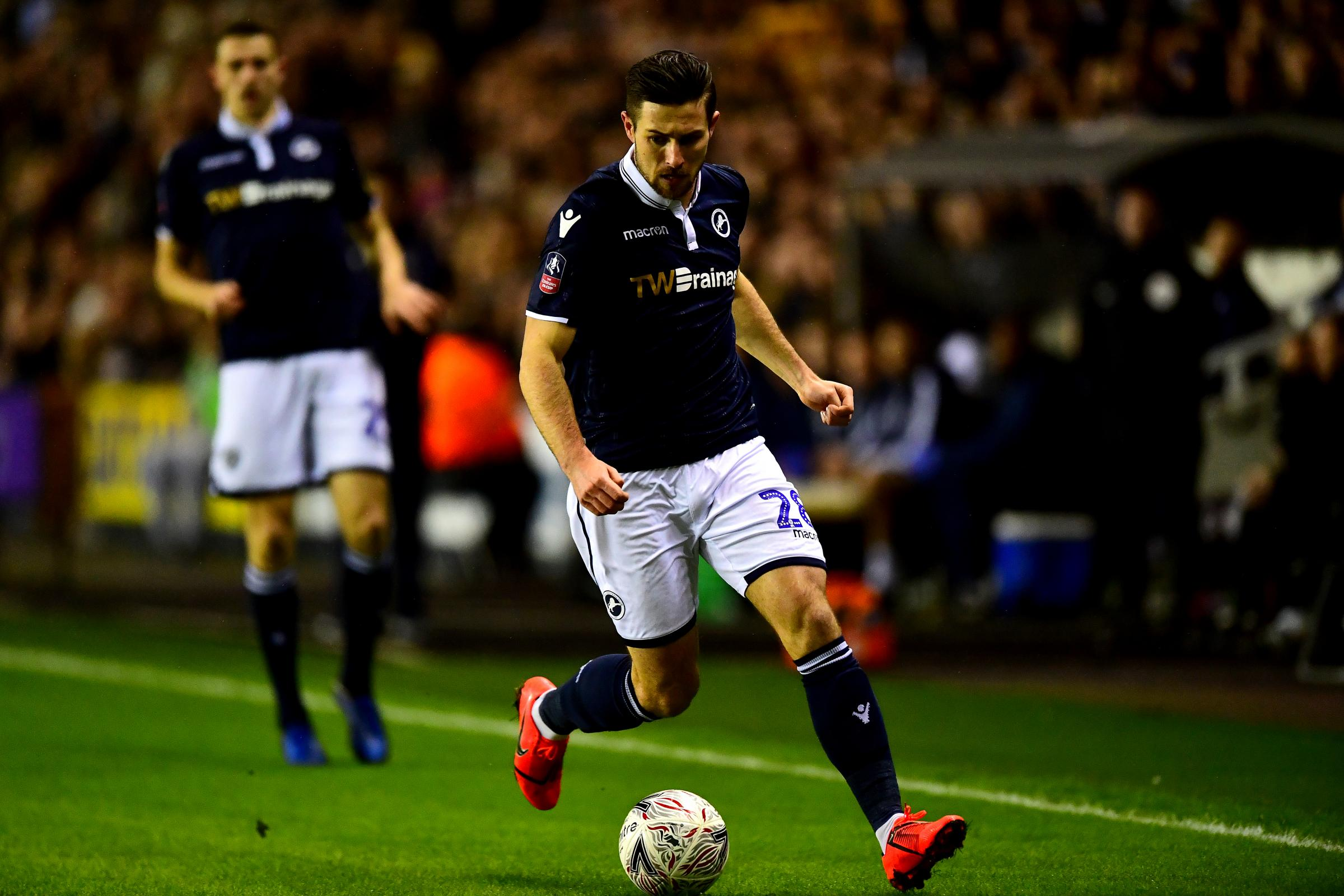 Millwall's Ryan Leonard during the FA Cup fourth round match at The Den. (Photo credit: Victoria Jones/PA Wire.)