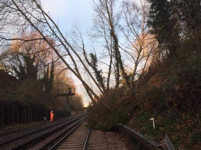 Rail chaos after landslip near Bexleyheath and signal failure last year