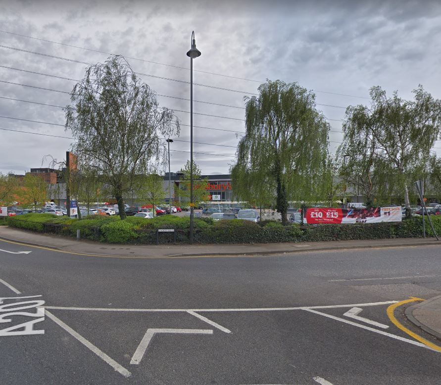 Social media reports say that a woman fell through a roof on Stadium Way, Dartford