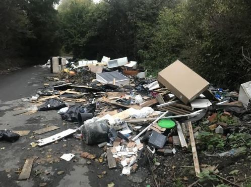 Bromley council offering reward for reporting fly-tipping similar to this in Star Lane
