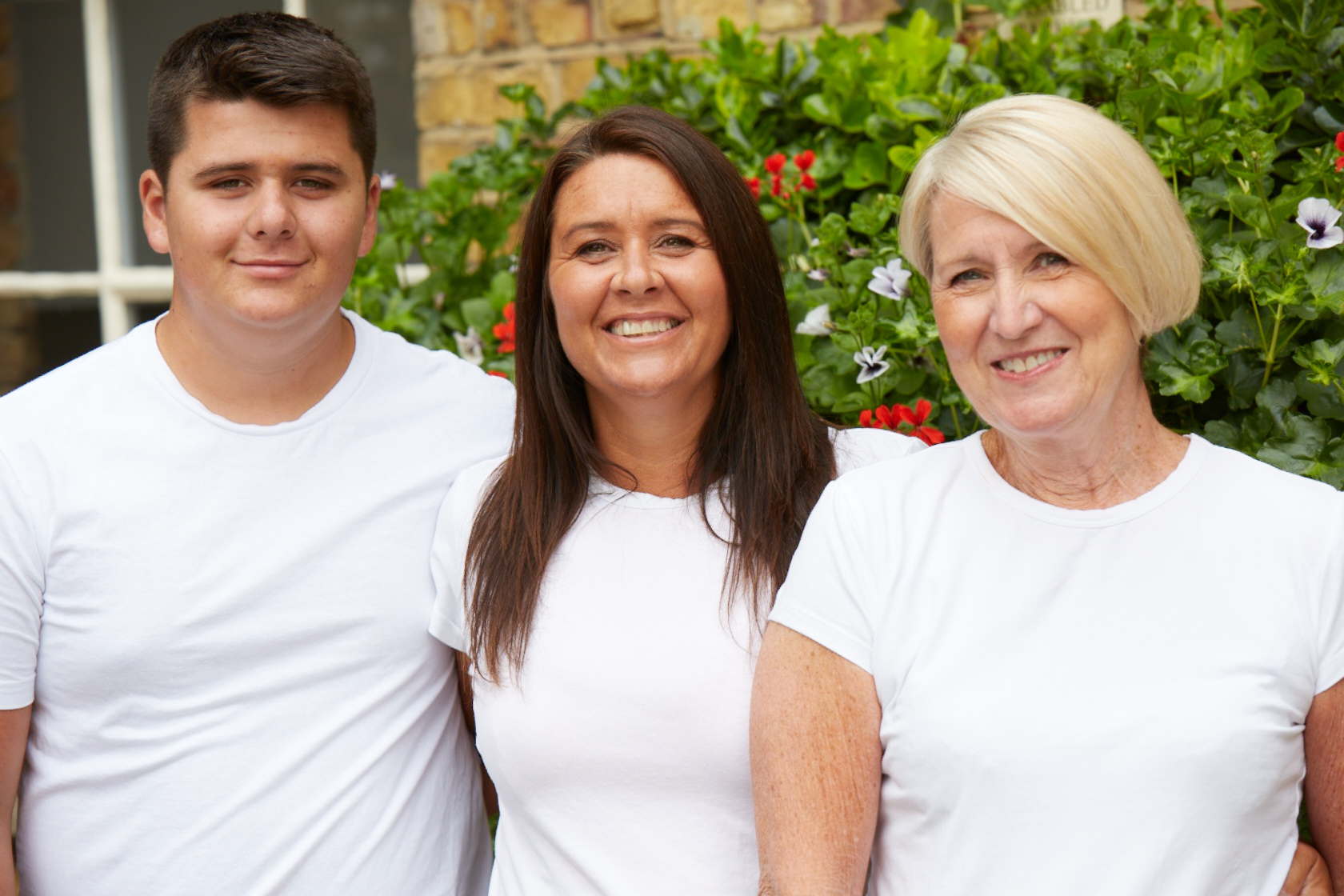 Tommy with mum Emma and grandmother Dot