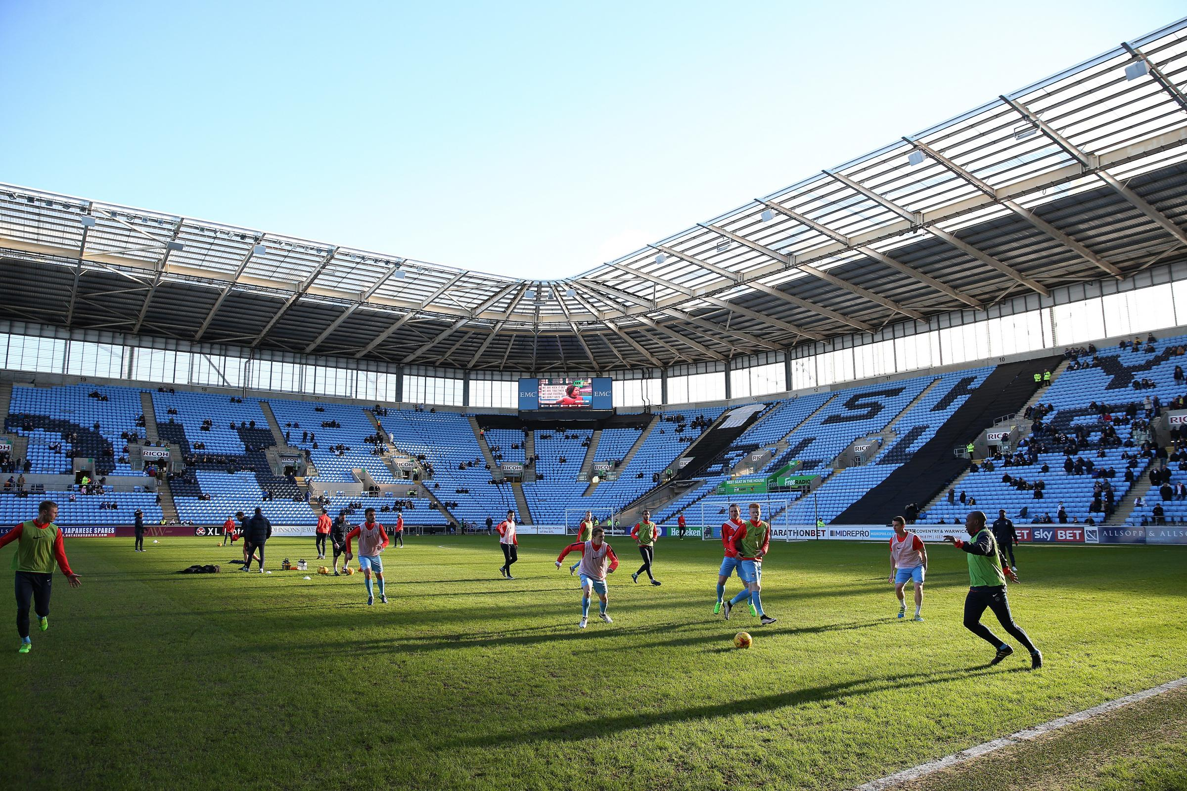 Coventry's current rent deal to play at the Ricoh Arena runs out in May