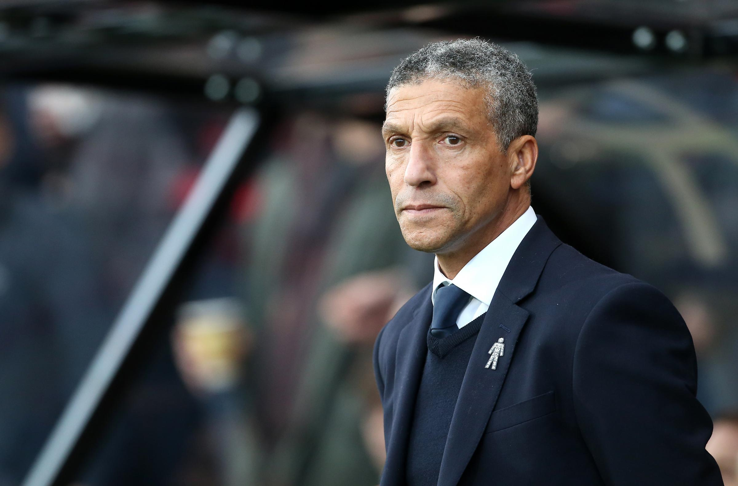 Brighton & Hove Albion manager Chris Hughton (PA)