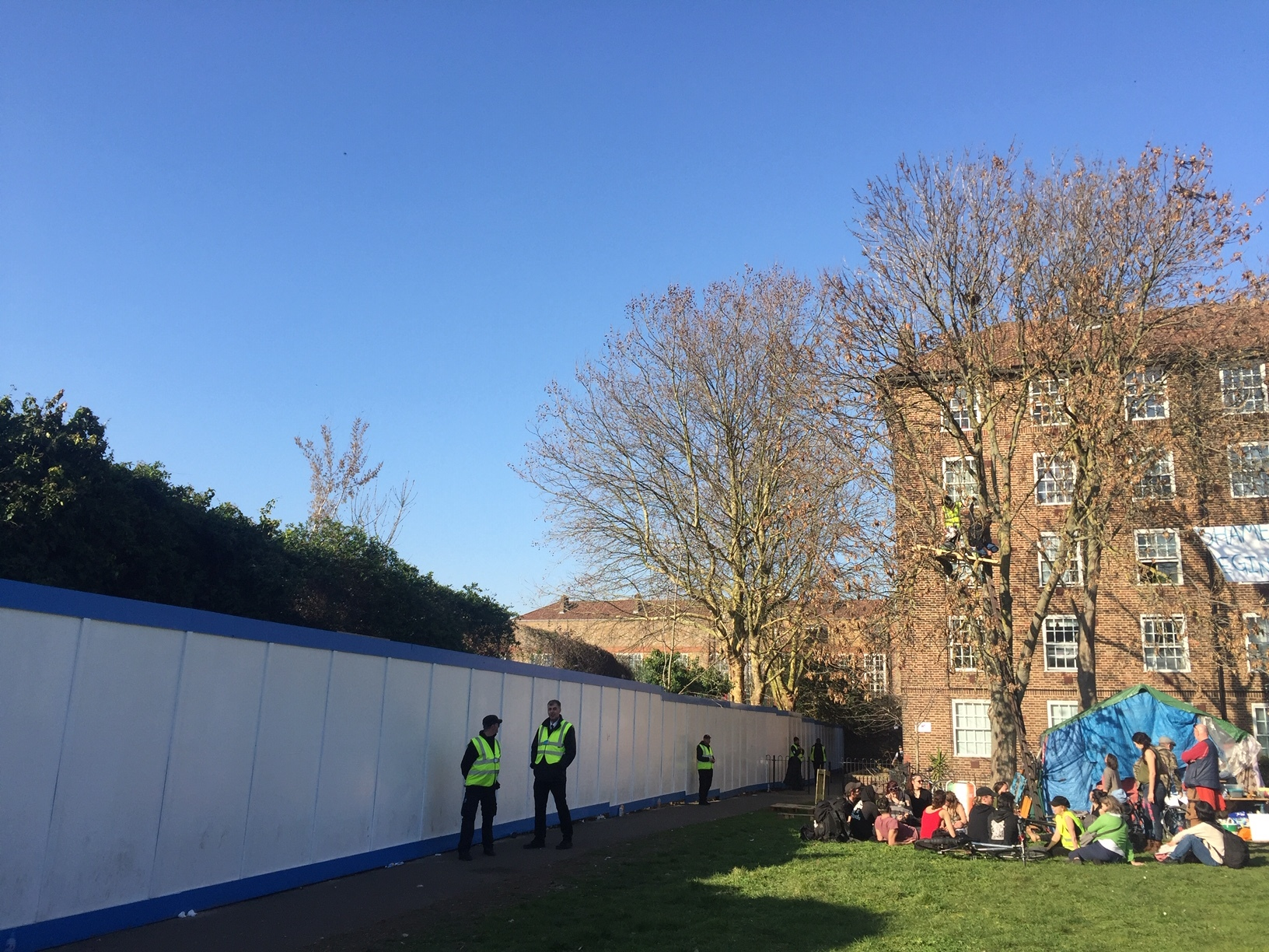 A protest camp by the Tidemill garden has been given an eviction notice.