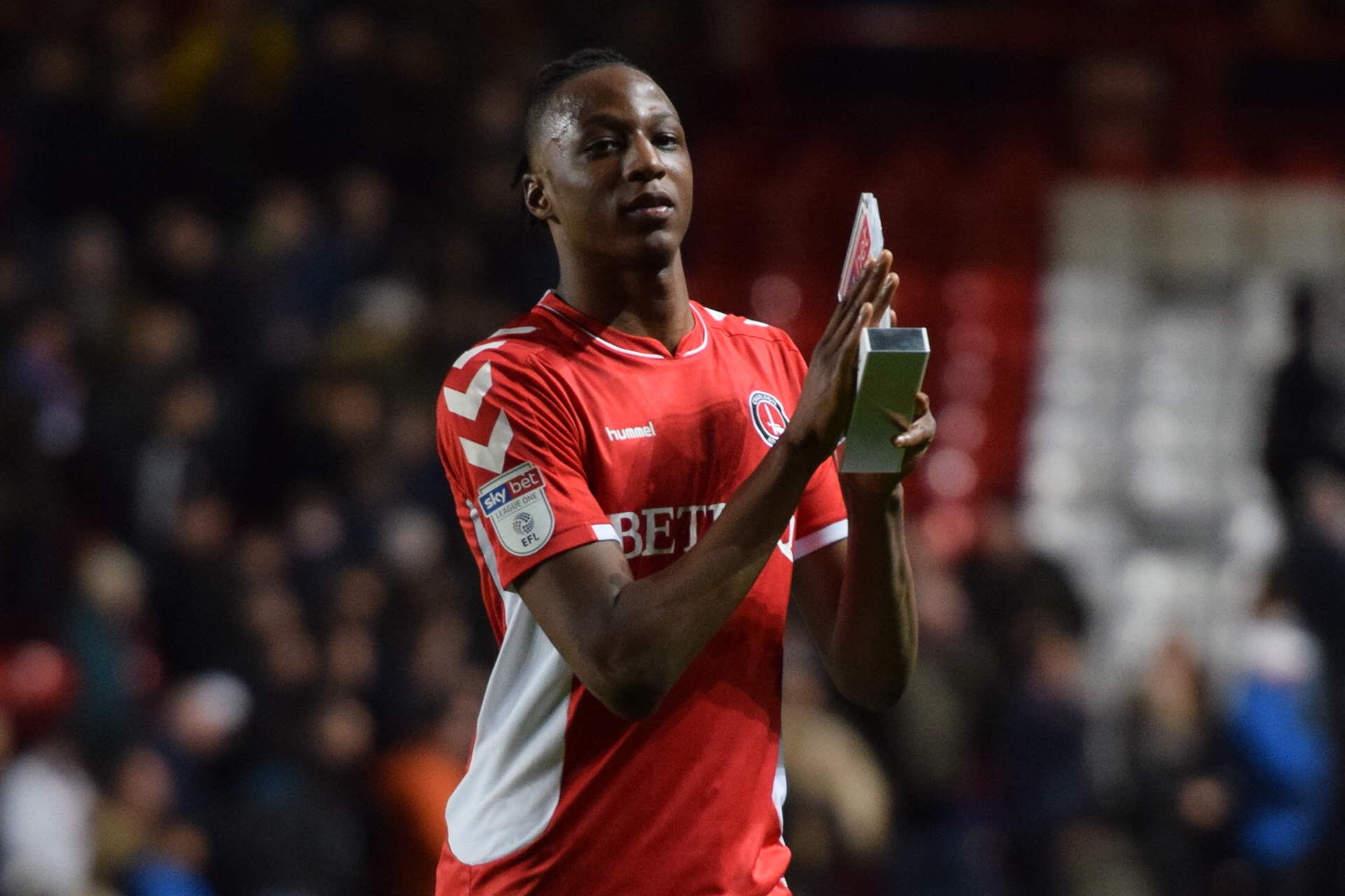 Aribo with his MOTM trophhy (PIC: Kyle Andrews Photography)