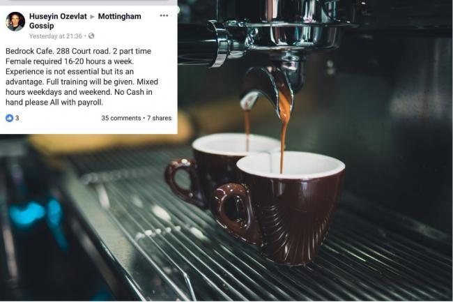 Owner of Bedrock Café in Mottingham defends 'sexist' job