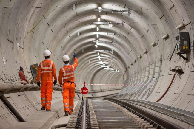 Crossrail engineers in tunnel