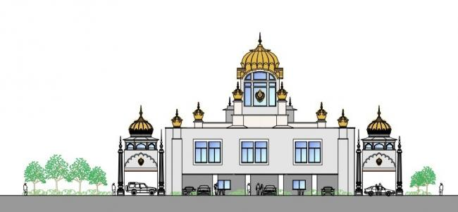 The Temple as it has been approved