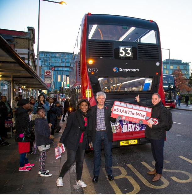 Greenwich Council previously backed campaigns to keep the 53 going 'all the way'