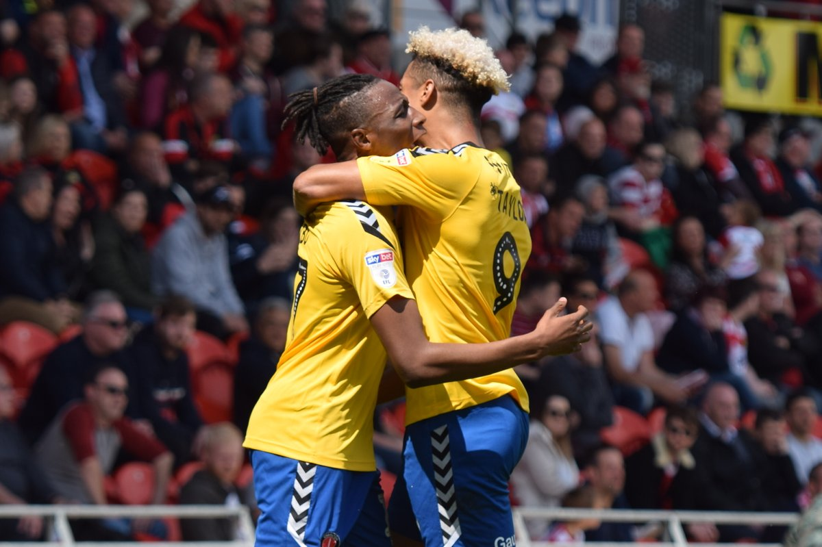 Lyle Taylor and Joe Aribo were Charlton's goalscorers | Picture: Kyle Andrews