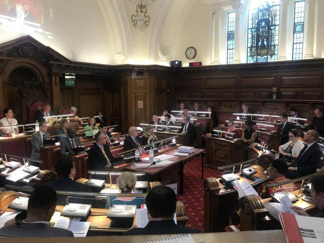 Stock of the council chamber - the decision was made last night