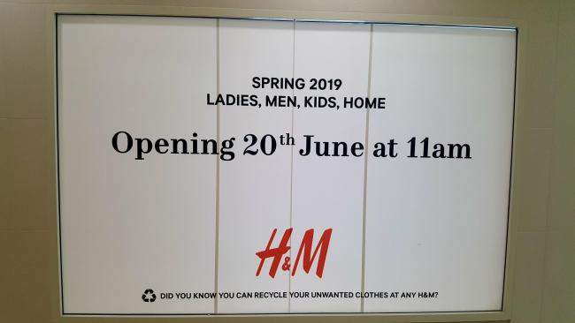 The new H&M will replace the old store in Lewisham Shopping Centre. Photo: H&M