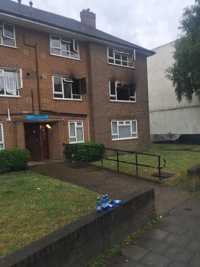 Two people were hospitalised by the fire