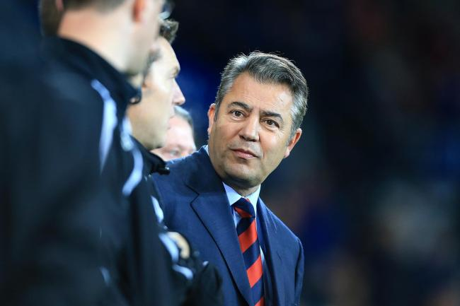 Cardiff City chairman Mehmet Dalman in the stands